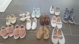 Lote de zapatos, sandalias y deportivas NIÑA