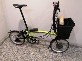 bicicleta plegable Brompton electrificada