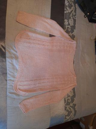 Jersey de punto rosa palo.