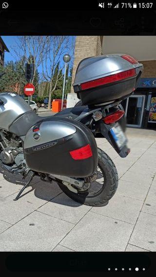 maletas laterales givi + cofre .top case moto