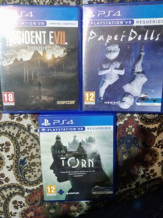 PS4 juegos vr