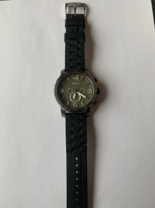 Reloj fossil correa negra