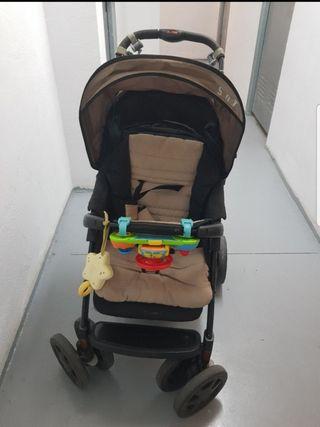 Carro Nurse Sunny+pañalera+funda respald Prenatal