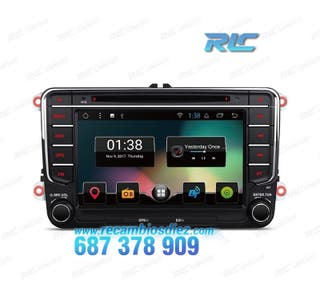 "RADIO NAVEGADOR ANDROID 8.1 7"" VW USB GPS TACTIL H"