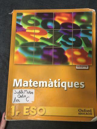 Libro Matematicas 1° ESO