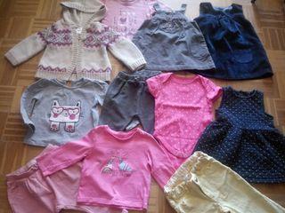 Lote ropa bebé niña 9 meses otoño invierno