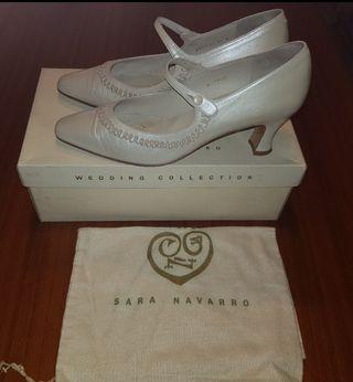 Zapatos Novia Colección Sara Navarro-Pronovias