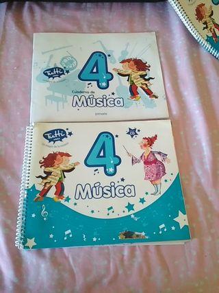 libro y cuadernillo música cuarto de primaria