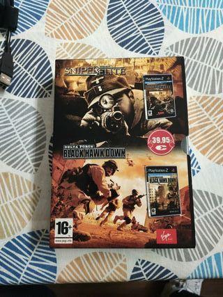 PS2 Sniper Elite y Delta Force Black Hawk Down