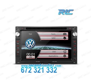 "RADIO NAVEGADOR 7"" VW USB GPS TACTIL HD"