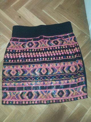 falda negra cln lentejuelas