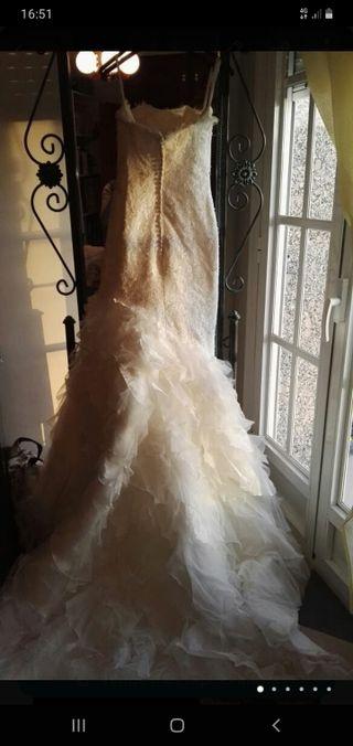 Venta de vestido de novia talla 36.