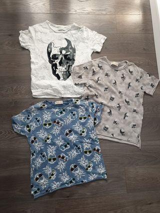 camisetas Zara niño talla 6 (Pack2)