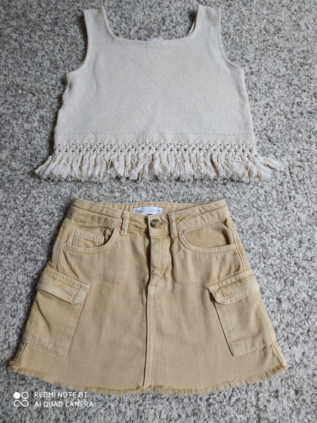 Conjunto minifalda + top niña