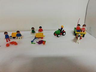 Playmobil tractor granja playa niños
