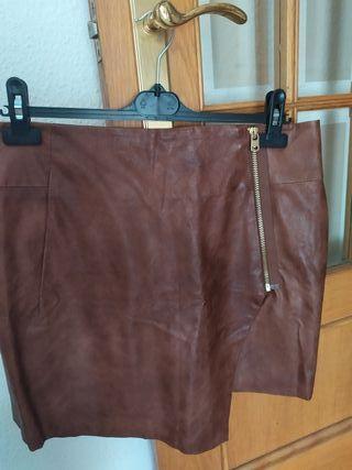 Falda de piel sintética de H&M