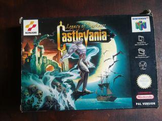 Caja y librillo castlevania legacy of darkness n64