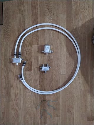 Cable coaxial para router.