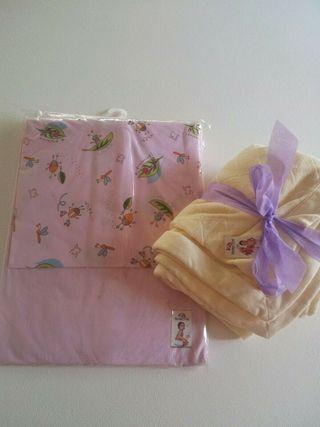Pack sabanas infantil + manta/toalla NUEVO rosa