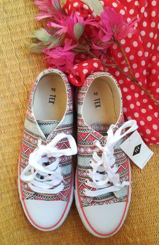 zapatos zapatillas mujer tipo converse nuevas