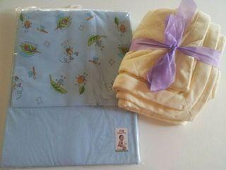 Pack sabanas infantil + manta/toalla NUEVO azul