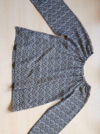 Blusa marrón de manga larga niña talla 8 años