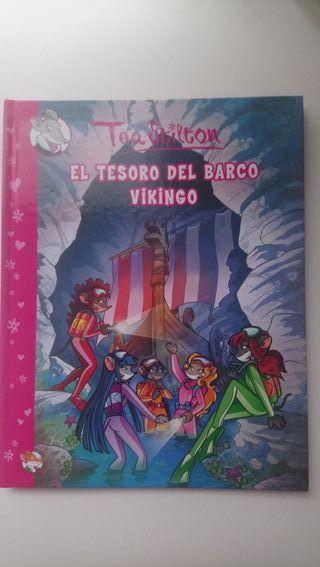 """Libro Tea Stilton """"El Secreto del Barco Vikingo"""""""