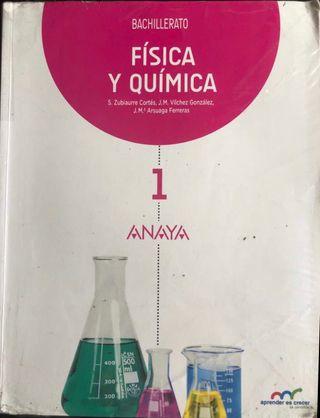 Libro física y química, 1º Bachillerato