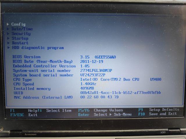 Lenovo X301 para reparar o piezas