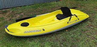 Kayak OUASSOU BIC 1 plaza, con asiento y remo