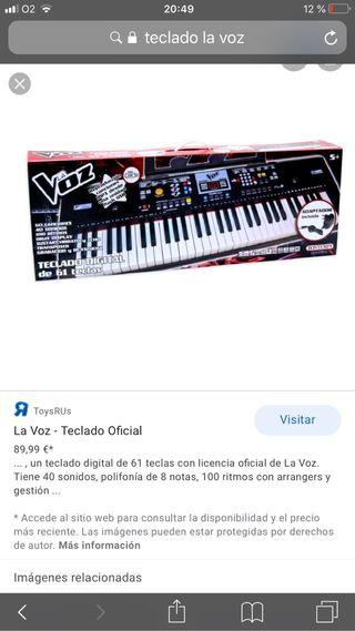 Teclado La Voz Kids + soporte de teclado