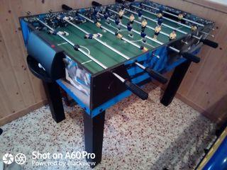 mesa de futbolín y villar