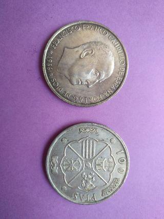 Moneda de plata 1966 de Franco