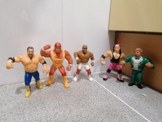 Lote wwf Hasbro con Hogan3, Anvil, Bret Hart