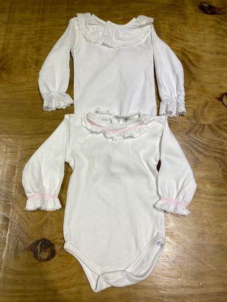 Talla 3 meses Pack 2 bodies bebé niña