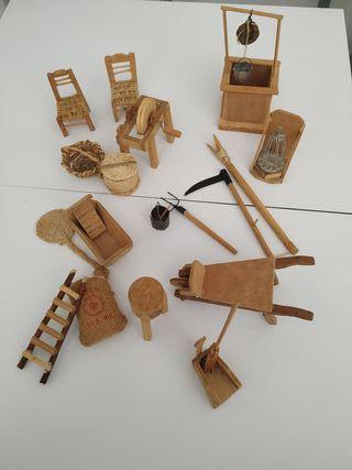 Miniaturas de madera artesanales
