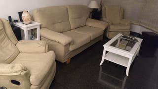 sofá NEGOCIABLE tres plazas sillones relax manual