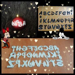alfabeto letras tipo Disney scrapbooking scrap