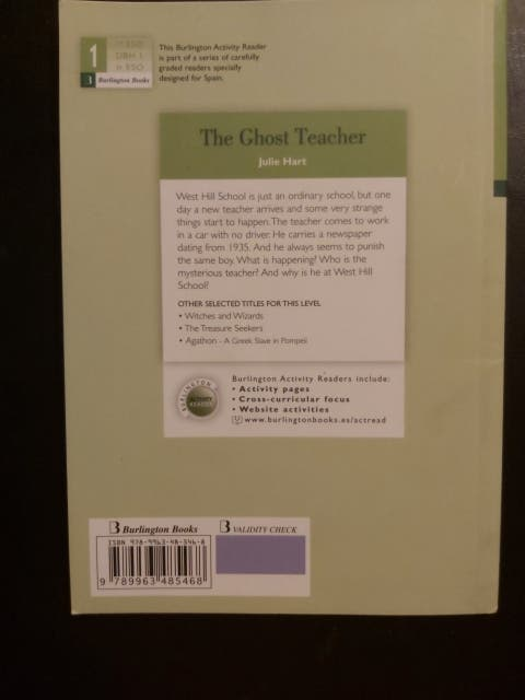 Libro juvenil The Ghost Teacher
