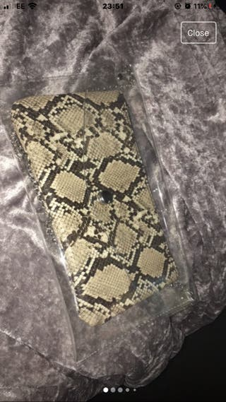 Snake print purse and wallet