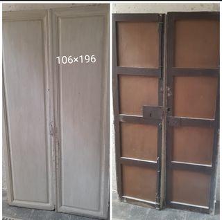 puerta antigua 1900 madera maciza. Puertas antigua
