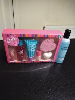 Brand New gift set with nail polish remover.