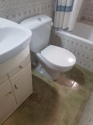 regalo 2 WC. bide, mueble de lavabo y lavabo