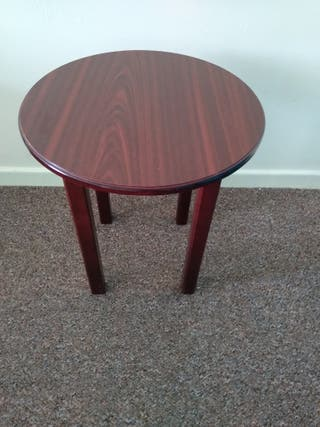 Solid wood table very good condition like new .