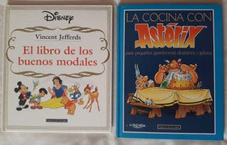 2 libros Disney + Astérix