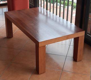 mesa baja de salón de madera