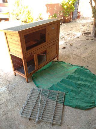 Conejera de madera casa, jardín o patio