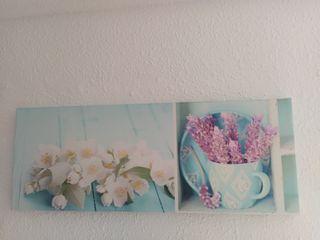cuadro flores 30x80cm urge vender por mudanza