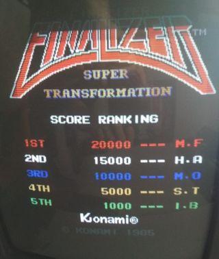 Placa jamma Finalizer de Konami