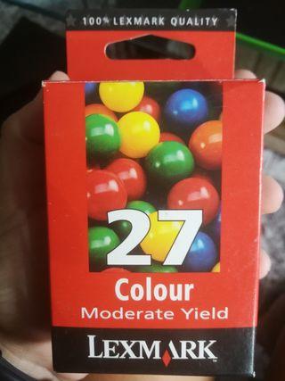 cartucho tinta Lexmark (color) número 27 2 unidade
